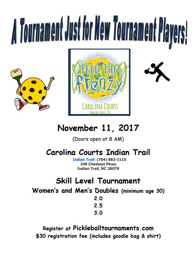 Carolina Courts New Player Tournament November 11 2017